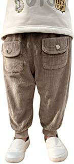 HOSD Pantalones de Pana para niños 2019 nuevos Pantalones de Pana para niños más Pantalones de Terciopelo Pantalones Casua...