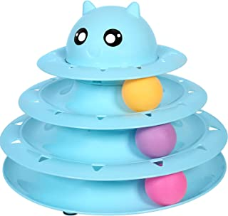 Mumoo Bear Cat Toy Roller Cat Toys 3 Level Towers Tracks Roller Interactive Kitten Fun Mental Physical Exercise Puzzle Toy...