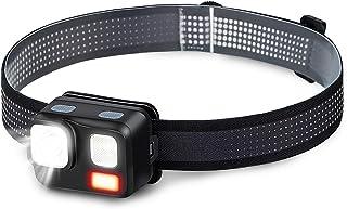 LED ヘッドライト 赤&白LEDライト 8種モード 180ルーメン 高輝度 小型 超軽量 IPX4防水 角度調整可 単4形電池式 防災/作業/工事/登山/夜釣り/キャンプ/散歩/アウトドア用