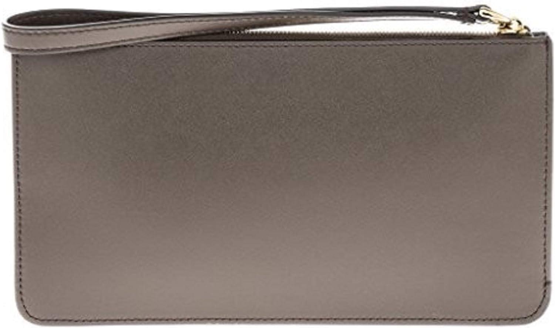 Fendi Asphalt Gray Rainbow Collection Women's Calfskin Clutch Wristlet 8m0341