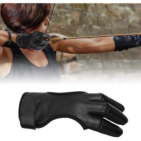 WT-DDJJK Gants de tir /à larc Gant de Protection de tir /à larc 3 Doigts tirent Les Gants de tir en Cuir de larc /équipement de Chasse