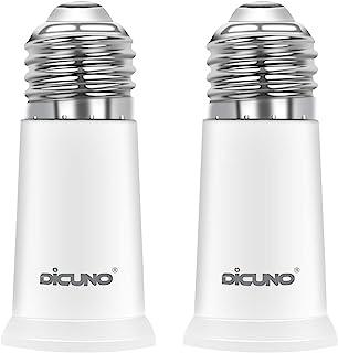DiCUNO E27 a E27 5CM Adaptador extensor, E27 extensión de portalámparas de lámpara, adaptador de portalámparas para bombillas LED y CFL, paquete de 2