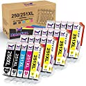 20-Packs HaloFox Compatible 250 251 Ink Cartridges Replacement