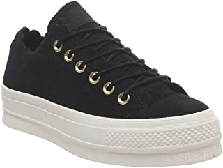Converse Chuck Taylor All Star Lift Frilly Thrills Womens Black Trainers
