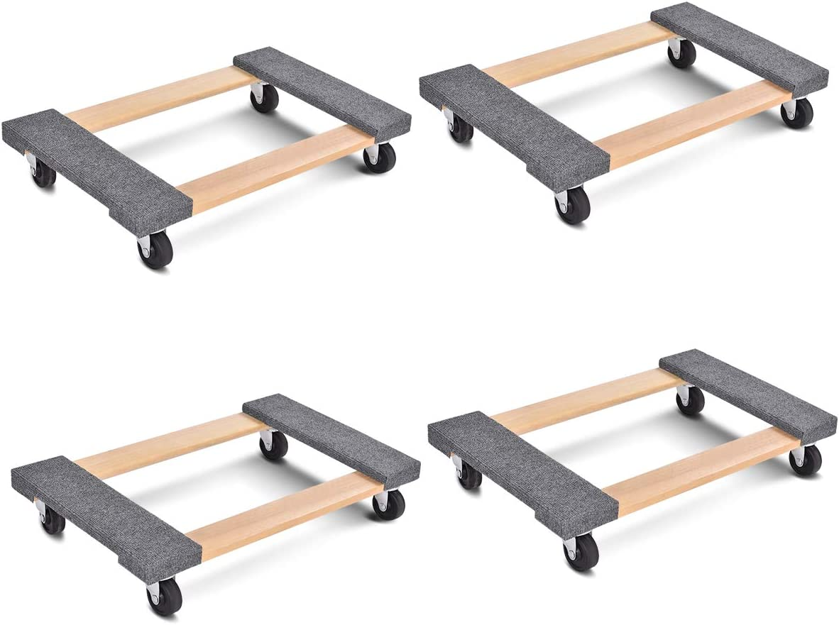 Goplus Moving SEAL limited product Dolly Heavy Duty Dllies Carr Movers Cheap sale Furniture Wood