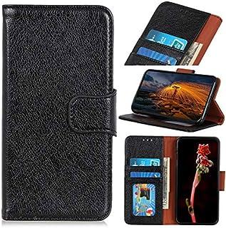 OnePlus 7Tプロケース、磁気バックル、OnePlus 7T Proのフリップスタンドケース付きPUレザーウォレットケース用 (Color : Black)