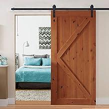 2M Antique Classic Style Single Sliding Barn Door Hardware Track Roller Kit Model A 2M Single Door Kit