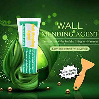 Drywall Patch - Wall Mending Agent Wall Repair Cream - Quick & Easy Solution to Fill The Holes in Your Walls-Also Works on Wood & Plaster - Self-Adhesive Drywall Repair Putty with Scraper(100g)