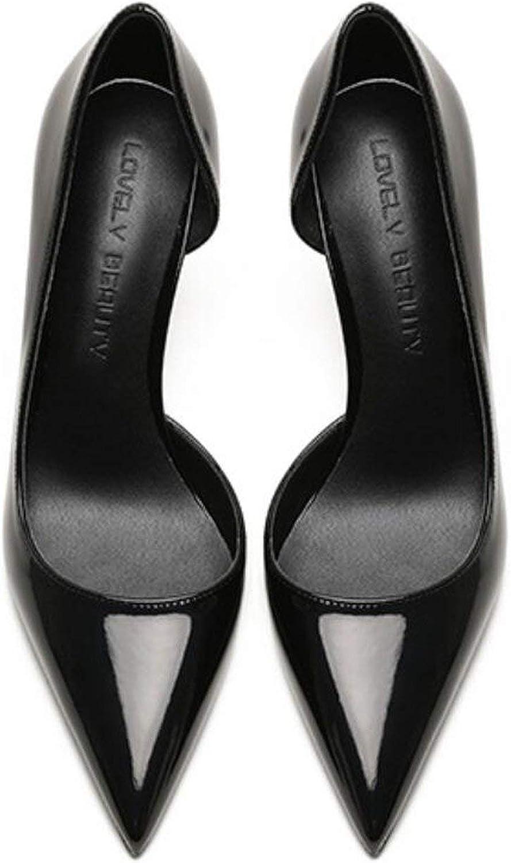 High Heels Patent Pointed Toe Oepn One Side 8Cm 100Mm High Heel