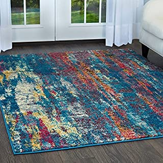 Home Dynamix Serena Vigo Contemporary Modern Abstract Area Rug 5'3