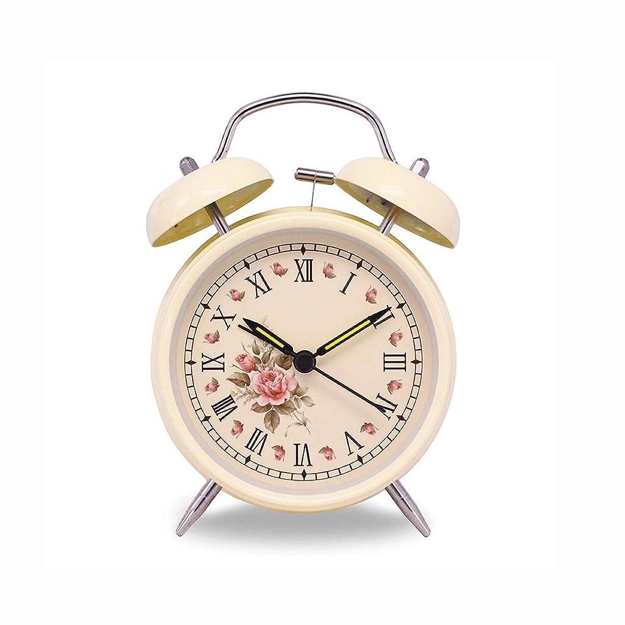 料理輸血耐久金属の目覚まし時計クリエイティブミュートナイトライト4インチスタイリッシュなシンプルなデジタル学生のベッドサイドの目覚まし時計怠惰