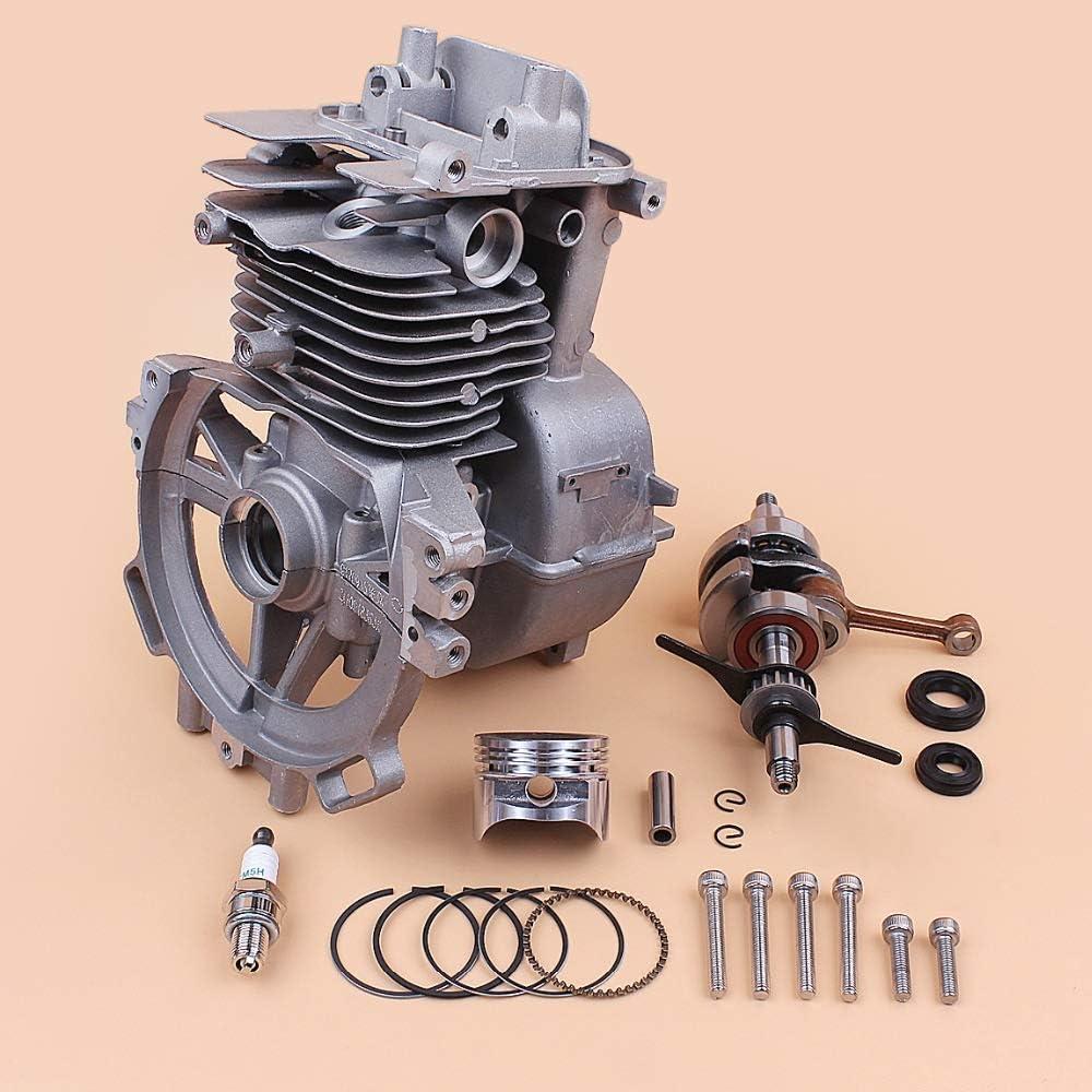 Kit de pistón de cigüeñal de cigüeñal de Cilindro de Motor de 39MM Apto para Honda GX35 GX35NT 35.8cc Gas pequeño Motor recortador desbrozadora cortadora de césped