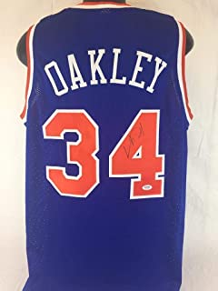 65f16370b Charles Oakley Signed Jersey Coa New York Knicks Basketball Autograph -  PSA DNA Certified -
