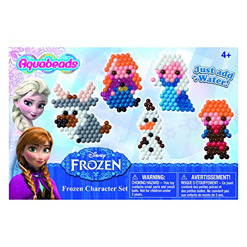 Aquabeads - Disney Frozen Character Playset - Your Child Can Create Colorful Bead Art - Spray to Set Bead Designs for a Lasting Craft - Contains Over 800 Beads