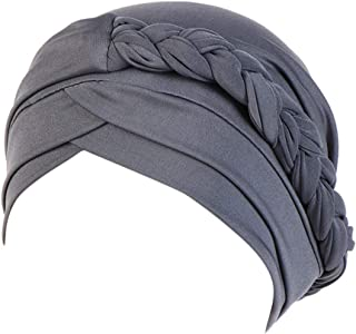 ♛TIANMI Hat for Womens,Summer Casual Solid Plait India Hat Muslim Ruffle Cancer Chemo Beanie Turban Wrap Cap