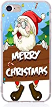 Christmas Phone Case Capinha para iPhone se 6s 6 7 8 x 10 Ten Silicone Reindeer Santa Claus Cover iPhone 8 Plus Bag,Apricot iPhone 6