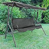 Tenzo-R 37456 Hollywoodschaukel Gartenschaukel Outdoor Indoor 3 Sitzer mit Dach