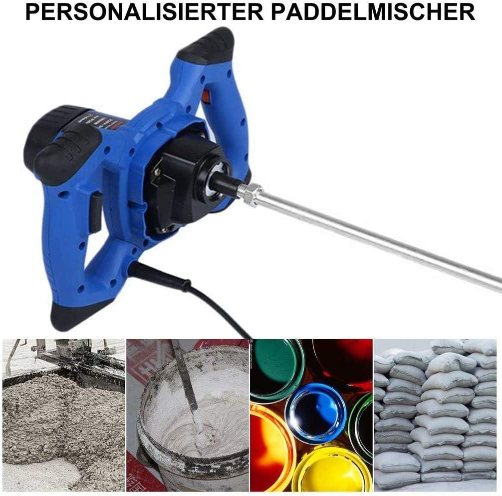 2X Stange und Klinge 2350W r/ührwerk m/örtelr/ührer Betonmischer Handr/ührwerk R/ührger/ät Profi R/ührwerk 1400W,Blau