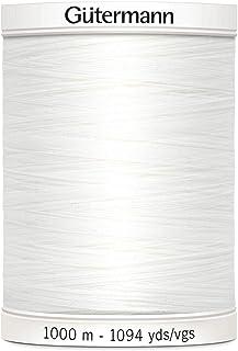 Gutermann Sew-All Bobine de Fil à Coudre, Polyester, Blanc, 1000m