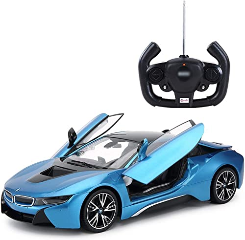 HTDZDX Drahtloses Fernsteuerungsauto, Vorbildliches Car Kit, Supersportwagen-Exklusive Technik-ModellbauSätze Passend Für Kind über 8 (Farbe   Blau)