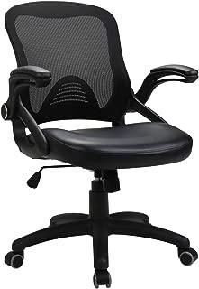 OWLN Ergonomic Mid-Back Mesh Office Chair Swivel Task Chair with Adjustable Armrest (BLACK3)