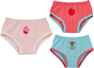 Joyo roy Unisex Baby Potty Training Undies Cotton Strawberry Diaper Pants Pack of 3