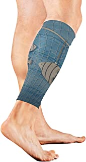 Marine Decoration And On Blue Shabby Calf Compression Sleeve Leg Compression Socks For Shin Splint Calf Pain Relief Men Women And Runners Improves Circulation Recovery