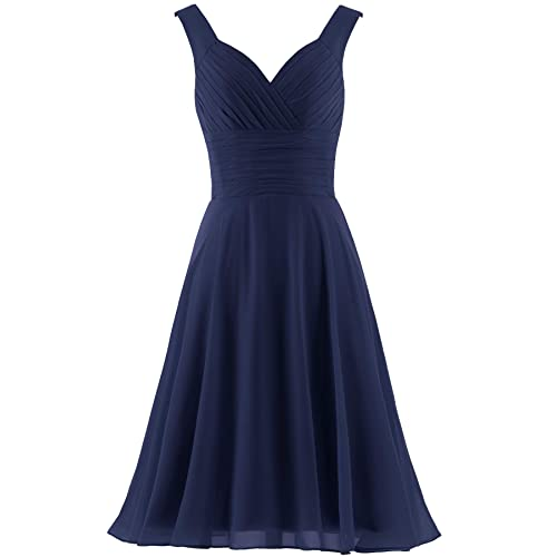 Short Navy Blue Bridesmaid Dresses