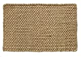 HF by LT Boho Market Ella Basketweave 100% Seagrass Doormat, 18 x 30 inches, Durable and Sustainable Handwoven Seagrass, Static Free and Stain Resistant, Reversible, Beige