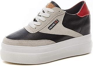 [日本82] レディース スニーカー プラットフォーム 厚底 インヒール ローカット 履きやすい 疲れない 身長アップ 美脚 カジュアル 可愛い 通学 運動靴 白 黒 スニーカー