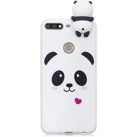 HopMore Cover Huawei Y7 2018 / Honor 7C Silicone Disegni 3D Panda Divertenti Fantasia Gomma Morbido Custodia Honor 7C / Y7 Prime Antiurto Protettiva ...