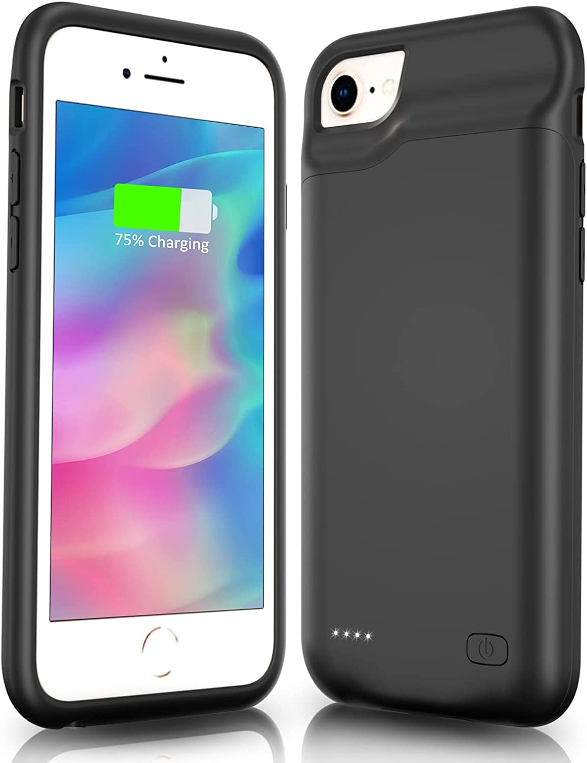 Gladgogo Battery Case for iPhone 6 6s 7 8 SE 2020 (2nd Generation) Slim 6000mAh Charging Case Protective Charger Cover Portable Extended Battery Charger Case for iPhone 6/6s/7/8/SE 2020-4.7 inch