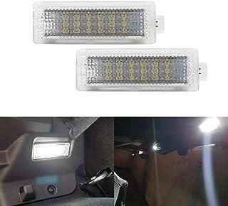 MOLEAQI 2X Coche Auto Led Cortesía Footwell Door Equipaje Luz de Maletero Lámpara para B-MW E90 E91 F20 F21 F10 F15 E83 E8...
