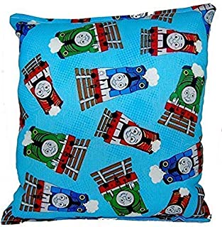 Thomas The Train Pillow Thomas The Tank Engine Pillow 10 inches by 11 inches Handmade Hypoallergenic Cotton with Flannel Backing Ideal for Gift and Multiple Uses