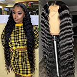 28 30 40 inch Deep Wave Lace Front Human Hair Wigs Long Brazilian Human Hair Wigs For Black Women Remy Hair Wigs