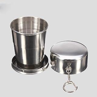 Plzlm Botella de Viajes Duradera de Acero Inoxidable Frascos Agua Taza Copa portátil Agua Café al