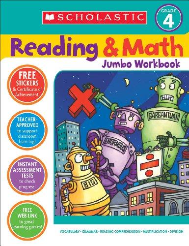 Reading & Math Jumbo Workbook: Grade 4