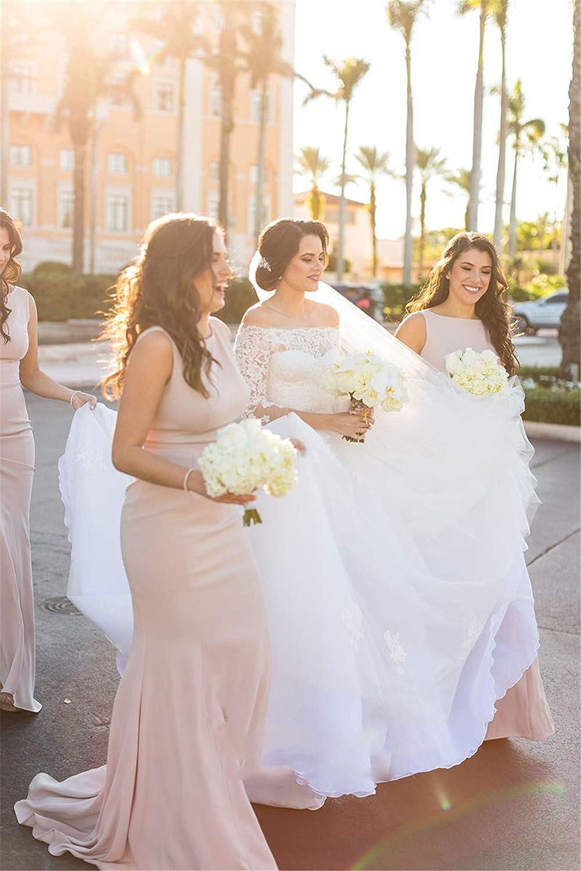 GTGY Women's Long Mermaid Bridesmaid Dresses Spandex Formal Prom Party Dress