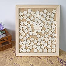 Maple Leaves Wedding Guest Book Alternative Drop Top Wooden Frame Custom Name Guestbook Wedding Gifts Wedding Favors 12 x 14 inch with 120 Leaves