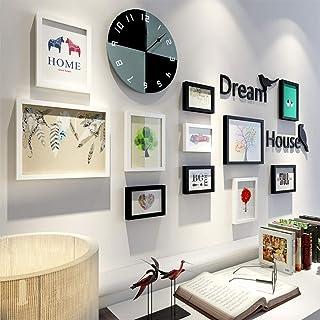 LONGWDS Marco de fotos Estilo nórdico Sala Decoración Pintura simple foto de la pared moderna Dormitorio restaurante Photo...