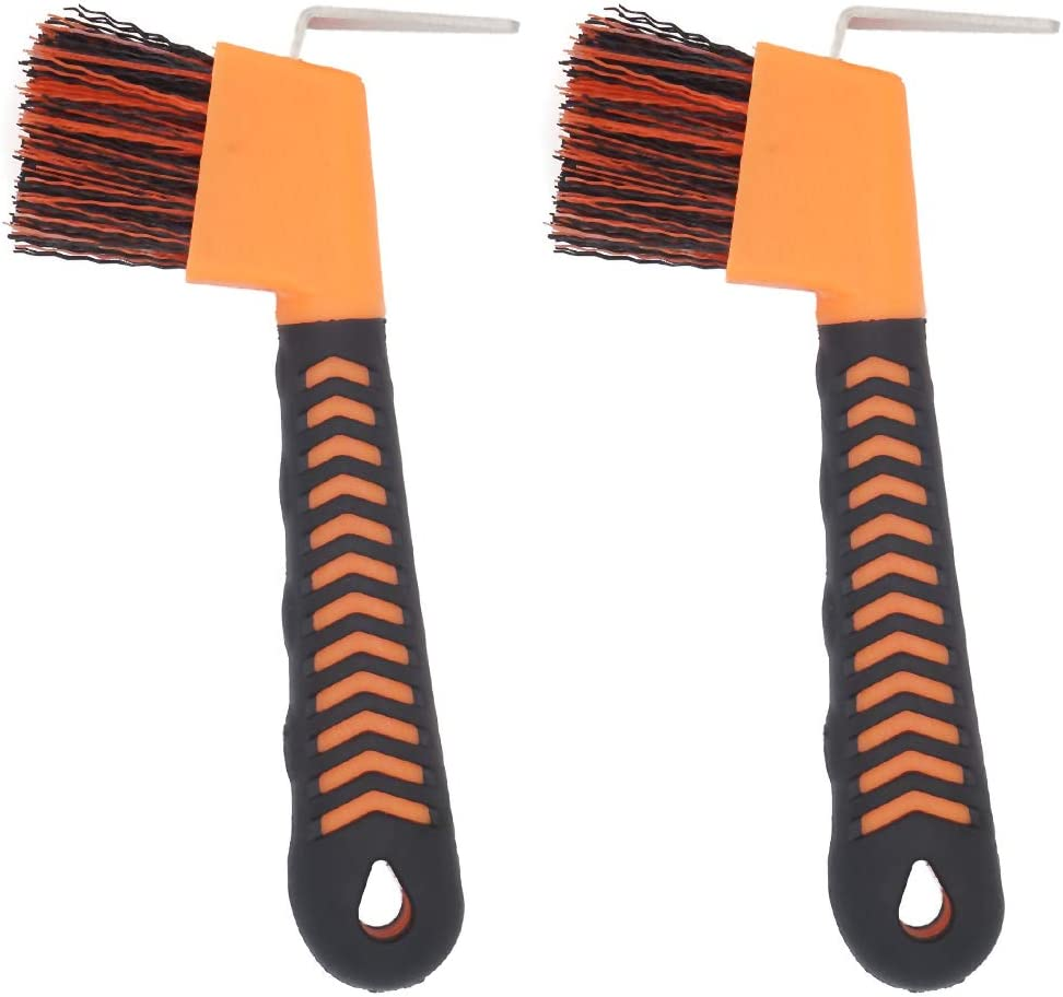 2PCS Horse Hoof Pick Brush with Soft Touch Rubber Handle,Portable Hoofpick(Random Colors) : Pet Supplies