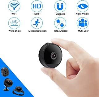 Camara Espia Oculta WiFi TANGMI Mini Videocámara 1080P HD Cámara Vigilancia Portátil Detección de Movimiento Cámara de Seguridad con Visión Nocturna