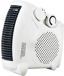 Calefactor Ventilador Vertical/Plano con Dos ajustes de Calor y soplado Fresco, Blanco