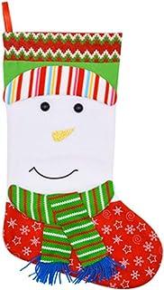 ADKY, ADKYDecoración navideña Bolsa de regalo Colgante Bolsa de regalo Calcetines Adornos de chimenea Calcetines de Navidad estéreo navideños medianos (un par)