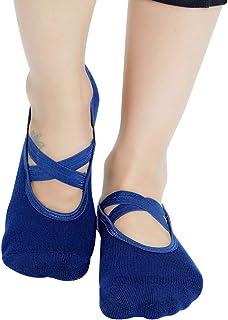Yoga Socks for Women Non Skid Socks with Grips Barre...
