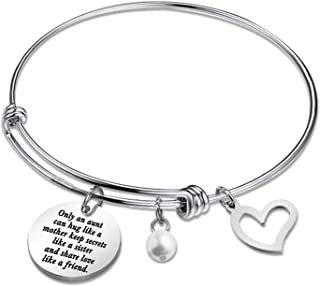 SIDIMELO Thank You Gifts Best Aunt Bracelet Thank You for Being There for Me Bracelet Jewelry Gifts for Aunt Sister Friend...