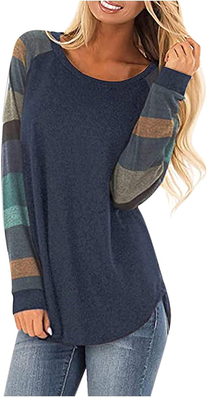 POLLYANNA KEONG Long Sleeve Tee Shirts for Women Funny,Sweatshirt for Women Vintage Graphic Fashion Crewneck Blouse