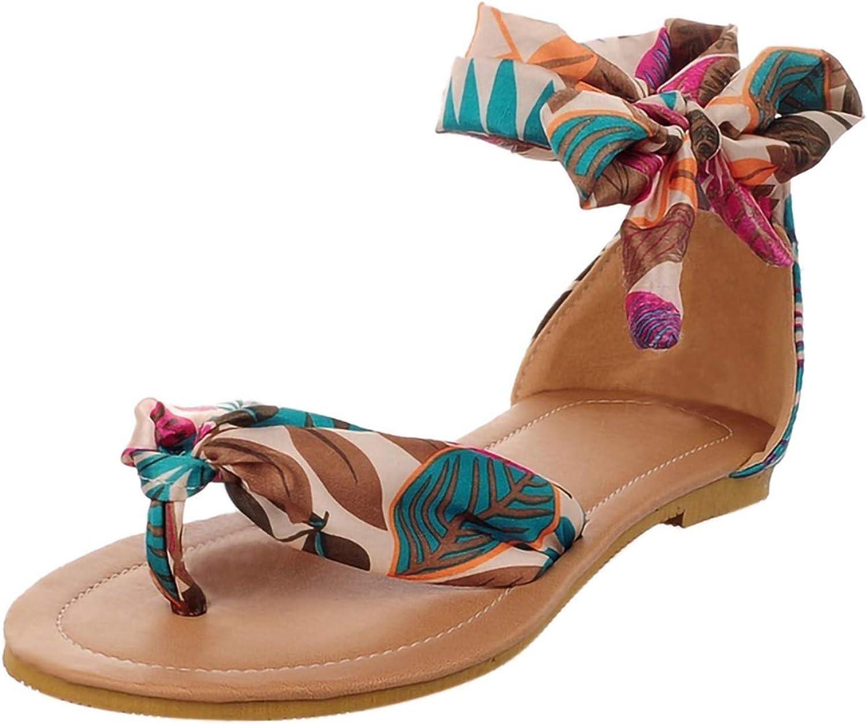 Greuses shoes Women Sandals Flat Lace-Up Flats Beach shoes Ladies Open-Toed Rome shoes