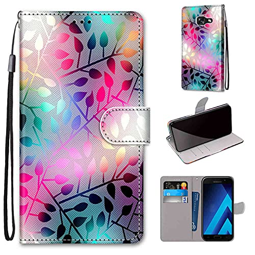 WGR Custodia Samsung Galaxy A5 2017, Cover a Libro Samsung Galaxy A5 2017, Custodia in Pelle Galaxy A520 Magnetica Portafoglio Cover per Samsung Galaxy A5 2017 5.2 Pollici