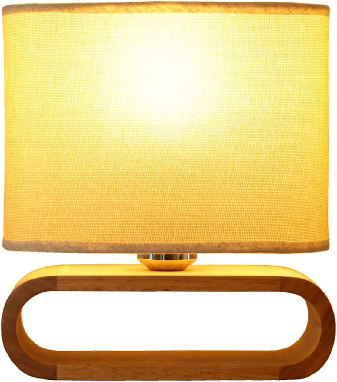 New products world's highest quality popular mart Bedside Table Lamps Desk Lamp Base With Cloth La Wood